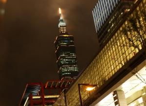 Taipei 101 by night