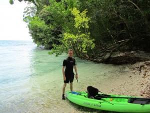 Na de lunch kunnen we alvast een beetje snorkelen