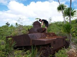 Japanse tank, even naar binnen gluren